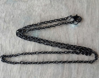 "18"" to 36"" Black Link Chain Necklace Lead Nickle Free Ready to Wear Finished Chain Tree of Life Pendants"
