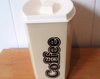 vintage coffee canister plastic