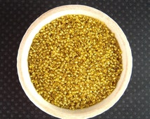 WHOLESALE Yellow Seed Beads, 11/0, 500 Grams, Antique Seed Beads, Venetian Glass, Silver Lined, Wholesale Beads, Yellow Seedbeads CV115W