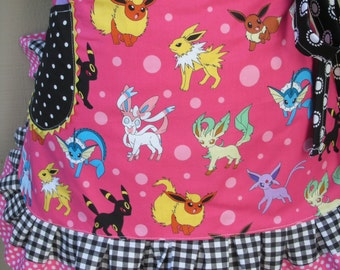 Womens Aprons - Etsy Aprons - Pokemon Aprons - Nintendo Aprons - Annies Attic Aprons -Pink Aprons -