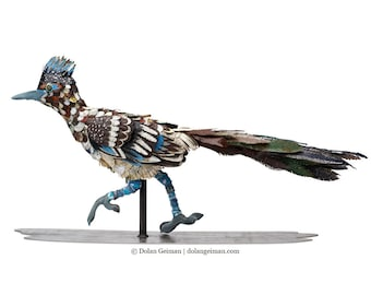 Roadrunner Sculpture in Metal