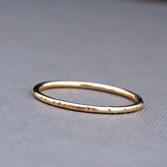 Simple Gold Ring Band Minimalist Stackable Gold Ring