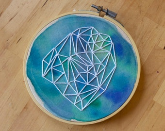 "5.5"" Hoop Art, Watercolor Embroidery 006"