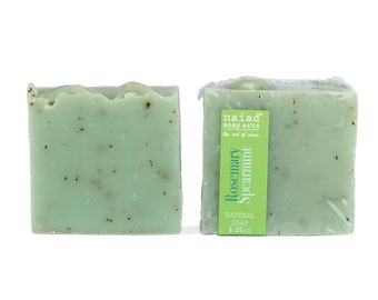 Rosemary Spearmint Shea Butter Soap - Handmade Soap - Vegan and cruelty free - sustainable palm oil