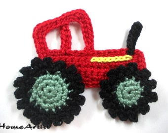 Crochet Applique Traktor