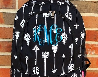 Arrow Backpack - Personalized Backpack - Monogrammed Backpack with Name or Initials of Your Choice