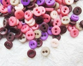 100 pcs Opaque Very Tiny 2 hole button - 5 mm.  for making Barbie, Blythe and dolls clothes SET5