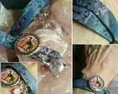 Sighthound painted leather wrap bracelet Greyhound Whippet