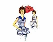 SALE 1960s Cobbler or Half Apron Butterick 9984 Vintage Sewing Pattern Size 14 - 16 Bust 34 - 36
