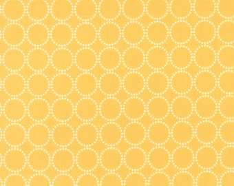 Sundrops - Circled in Dark Yellow: sku 29014-23 cotton quilting fabric by Corey Yoder for Moda Fabrics - 1 yard