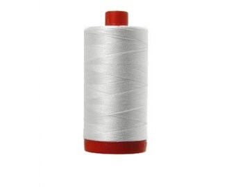 Aurifil Mako Cotton Thread 12/2 wt (red spool)  - 325 meters/355 yards - 2024 white