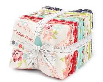 Vintage Picnic Fat Quarter Bundle from Bonnie and Camille for Moda Fabrics, 40 fat quarters