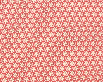 1 fat quarter - Strawberry Fields Revisited - Daisy Blooms in Strawberry Red: sku 20267-11 cotton quilting fabric by Fig Tree for Moda