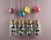 Soot Sprites in a Bottle Necklace (purple star)