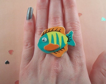 Wooden Fish Ring