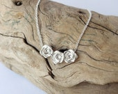 Rose Bud Necklace - Sterling Silver