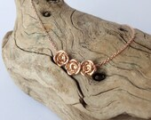 Rose Bud Necklace - 14k Rose Gold