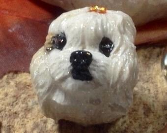 Maltese Best In Show Specialty European Charm Bead Nanjodogz Large Hole Bead