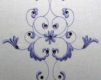 Crystal Linen Florals-10 Design Set- Embroidery Designs