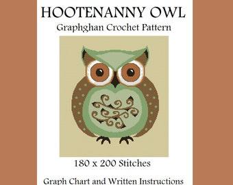 Hootenanny Owl - Graphghan Crochet Pattern