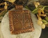 The Mystic Tree in Bronze Pendant, Tree of Life, Irish Celtic Jewelry, Necklace