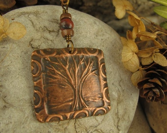 One Tree Pendant Copper, One Tree, Necklace, Tree of Life Jewelry, Irish Celtic Jewelry