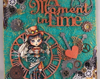 A Moment in Time OOAK Handmade Mixed-Media Wall Art