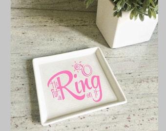 Custom Ring Dish - Custom Jewelry/Trinket Dish - Monogrammed Ring Dish - Personalized Jewelry/Trinket Tray - Jewelry Holder - Trinket Tray