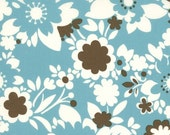 SALE It's A Hoot by Momo's for Moda Cotton Fabric Turquoise Floral by the yard
