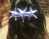 Retro Triple Starfish Hair Clip, Mermaid Hair Clip, Knobby Starfish, Starfish Hair Clip, Beach Weddings