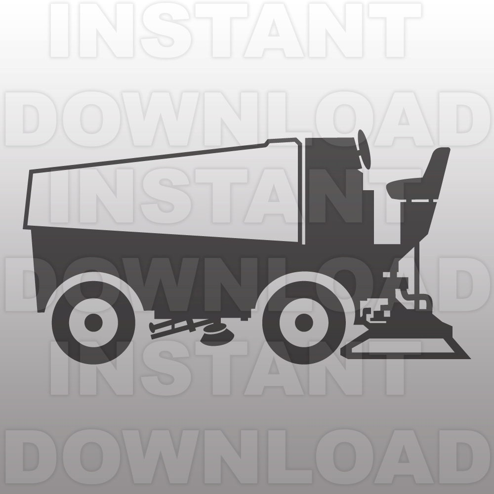 Coloring pages zamboni - Zamboni Svg File Ice Hockey Svg File Vector Art Commercial Personal Use