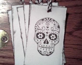 6sugar skull tags