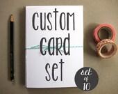 Custom Card Set - Set of Cards - Greeting Cards - Blank Greeting Cards - Illustrated Cards - Set of 10 Blank Greeting Cards