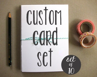 Custom Card Set - Set of Cards - Greeting Cards - Blank Greeting Cards - Illustrated Cards - Set of 10 Blank Greeting Cards