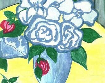 3 Red Rose Buds
