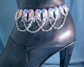 Angel Wings Red White and Blue Flags Boot Bracelet Chain Boot Jewelry Boot Accessory Boot Bling Biker Western Lady Rider Winged Heart Beach