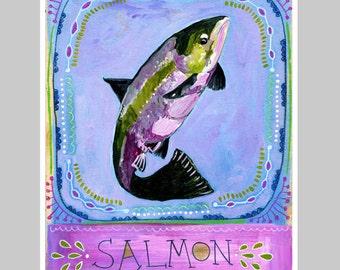 Animal Totem Print - Salmon