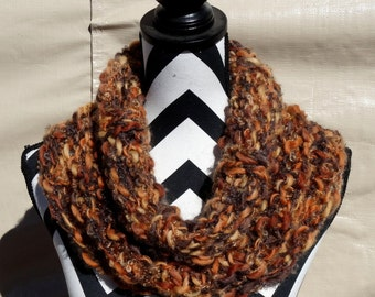 On SALE Autumn Bliss Handmade Outlander Inspired Reversible Cowl OOAK Original Design/Creation Hand Knitted Soft and Cozy