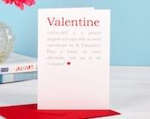 Valentine Definition Card