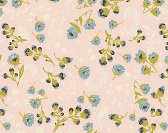 Art Gallery Fabrics Flourish Aglow - Forest Floor Collection by Bonnie Christine - Premium Cotton Quilting Fabric - One Yard