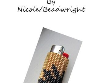 Peyote Pattern Pot Leaf Lighter Cover Instructions PDF Instant Download