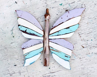 Mosaic Butterfly, Wooden Wall Art, Boho Wall Decor, Butterfly Wall Art, Bohemian Decor, Wood Butterfly, Nursery Decor, Wooden Butterfly