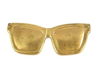Brass Sunglasses Pendants (2X) (M848)