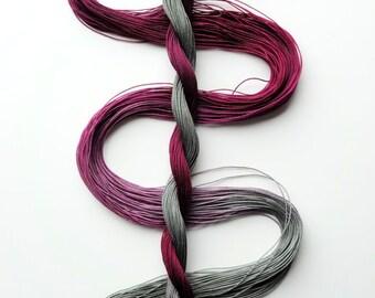 "Size 50 ""Stonehill Wine"" hand dyed thread 6 cord cordonnet tatting crochet cotton"