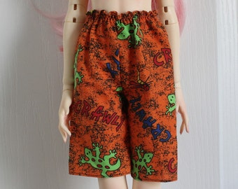 Board Shorts for 60cm BJD, Creepy Creepy, so very 1990s