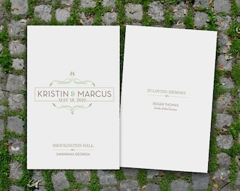 Organic Romance Wedding Ceremony Program