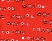 Cotton + Steel Rotary Club - onions n things - red  - fat quarter