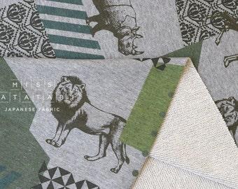 Japanese Fabric Echino Kokka French Terry Knit - zon - B - 50cm