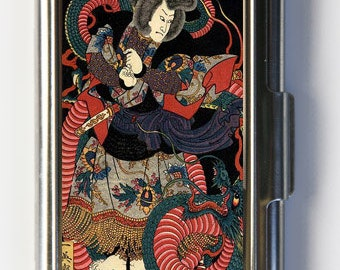 Japanese Dragon Samurai Business Card Holder Card Case