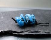 "Handmade Lampwork  Beads by GlassBeadArt ...  Lampwork ""Coral"" ... SRA F12 ... approx. 8x12mm"